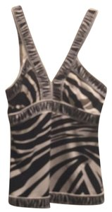 BCBGMAXAZRIA Top Black And Cream