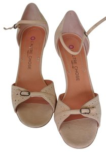 Other Nude Pink Suede Sandals