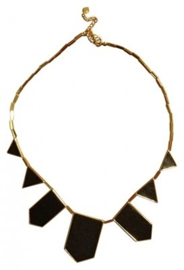 Preload https://img-static.tradesy.com/item/31601/house-of-harlow-1960-black-leather-station-necklace-0-0-540-540.jpg