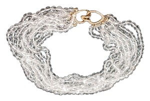 Other VINTAGE CINER 9 Strands of Clear Crystals Choker Necklace
