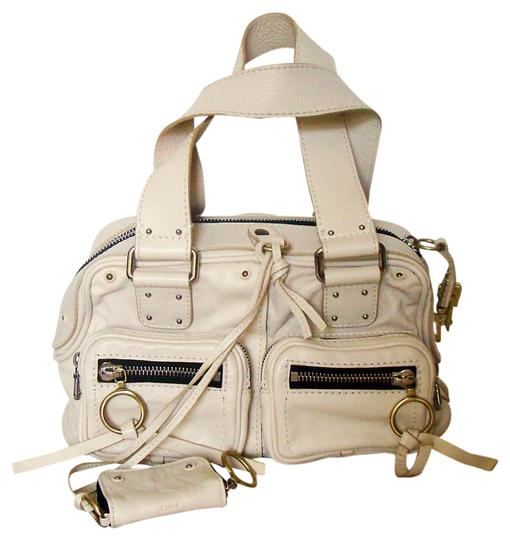 Chloé Blanc Parchment Leather Satchel in Ivory
