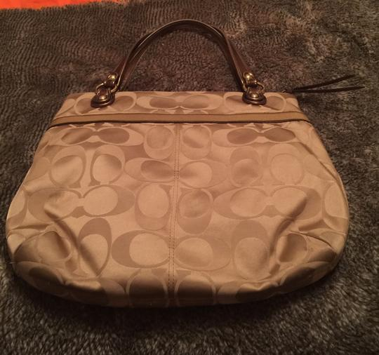 Coach Poppy Sateen Tote in Gold