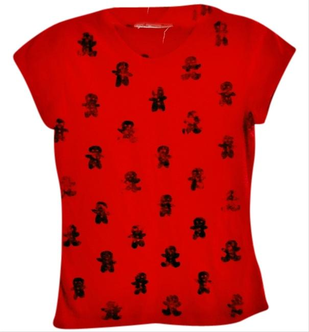 Other Animal Print T Shirt red