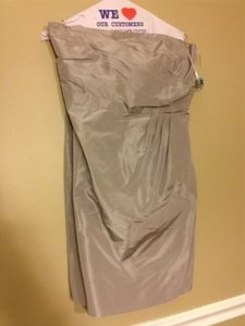 J.Crew Aged Driftwood Selma Traditional Bridesmaid/Mob Dress Size 12 (L)