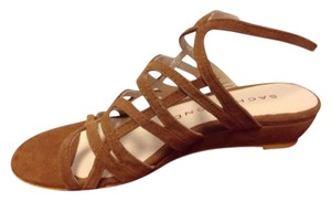 Sacha London Kid Suede Zinda In Box Strappy Brown Sandals