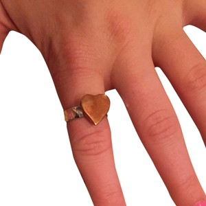 Tweeds Two Tone Heart Ring