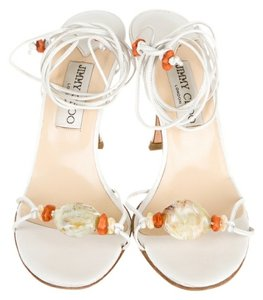 Jimmy Choo Jimmy Flower Pump white Sandals