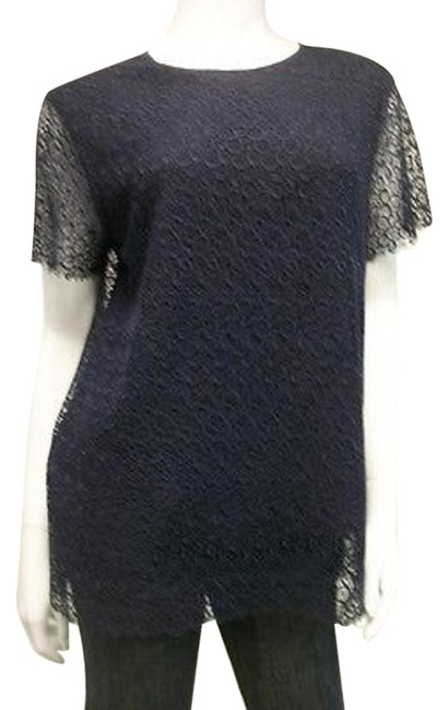 Raoul Navy Lace Sheer Back Style Lrvfe3384fncag Top Blues