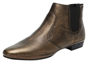 Luxury Rebel Leather Bootie Casual Brass Boots