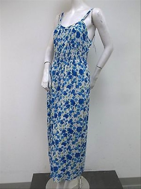 Multi-Color Maxi Dress by Tulle Blue Floral Print Shirred Elastic Waist Maxi I6569 Summer