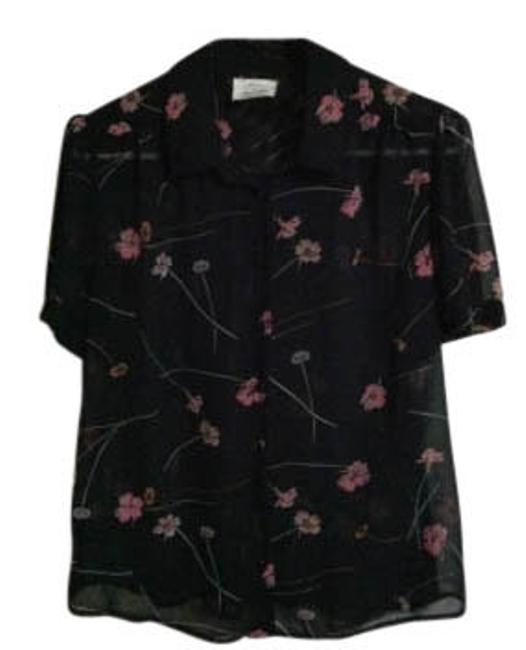 Preload https://item2.tradesy.com/images/pins-and-needles-black-blackpink-floral-chiffon-blouse-size-12-l-31621-0-0.jpg?width=400&height=650