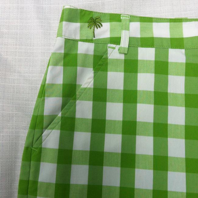 Lilly Pulitzer Mini/Short Shorts white and green stribe