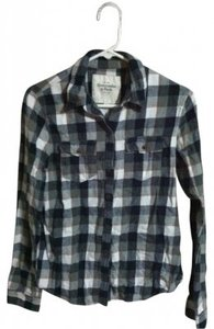Abercrombie & Fitch Button Down Shirt Black/Grey