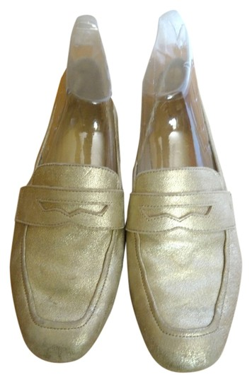 Ivanka Trump Loafer Gold Flats