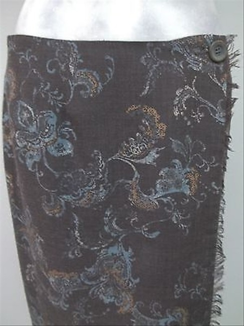 Tyler Boe Multi Floral Print Lined Fringe Hem Wrap F073724 Skirt Multi-Color