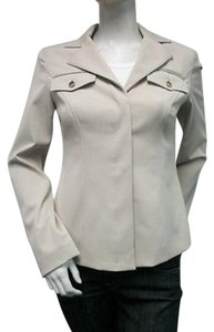 Donna Degan Donna Degnan Notched Collar Jacket Blazer 0 Tan Flap Pockets 3747-ci