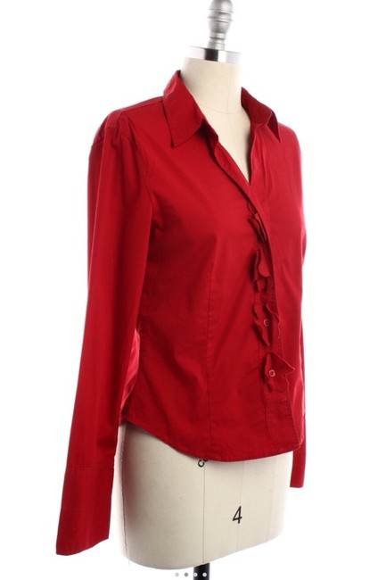 Escada Button Down Shirt Red