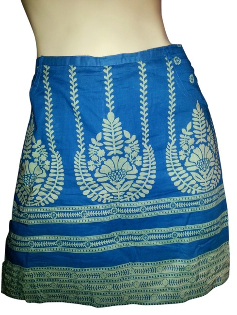 Item - Teal & Green Batik Skirt Size 12 (L, 32, 33)