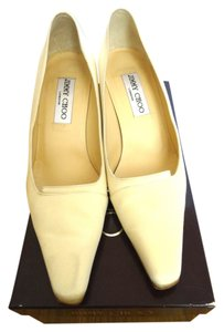Jimmy Choo Bridal Wedding Satin Heel Ivory champaign Formal
