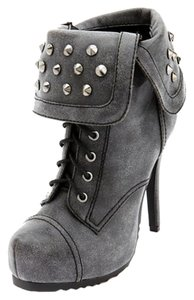 Charlotte Russe Studded Grey Boots