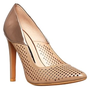 French Connection Perforated Design Hazelwood Pumps