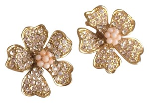 J.Crew J.Crew Crystal Flower Earrings