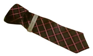 Geoffrey Beene Geoffrey Beene Gents 100% Silk Striped Necktie Brand New