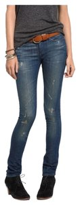 Madewell Distressed Cigarette Kalma Straight Leg Jeans-Distressed