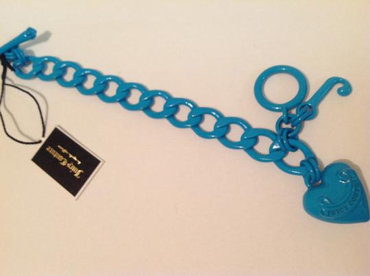 Juicy Couture Juicy couture neon blue heart bracelet new