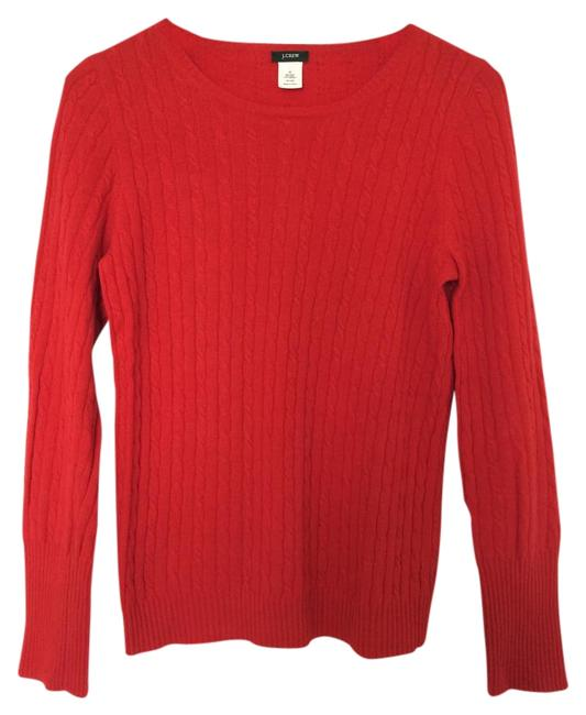 Preload https://item4.tradesy.com/images/jcrew-red-cambridge-cable-crewneck-cashmere-wool-blend-sweaterpullover-size-8-m-3165433-0-1.jpg?width=400&height=650