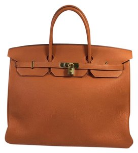 Herms Hermes Togo Leather Satchel in Potiron