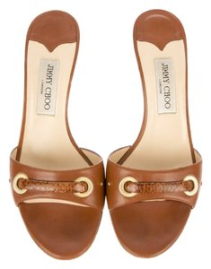 Jimmy Choo brown leather Mules