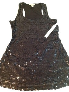 Kenar Black Sequin Party Clubbing Top