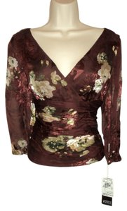 Adrianna Papell Formal Top Red Burgundy