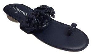 Chanel Ring Thong Dark Navy Sandals