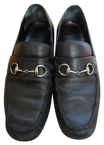 Gucci Loafer Leather Italy Black Flats