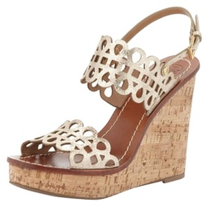 Tory Burch Metallic Wedges