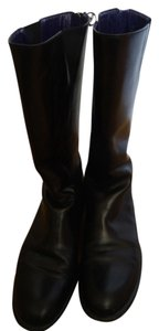 Ralph Lauren Leather Mid-calf Black Boots