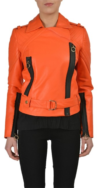 Preload https://item5.tradesy.com/images/just-cavalli-orange-leather-full-zip-women-s-basic-size-4-s-3166474-0-0.jpg?width=400&height=650