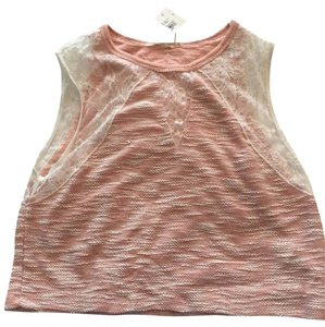Voxx Crop Lace Top Orange