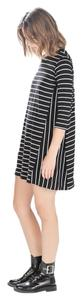 Zara short dress Black and White Stripe on Tradesy