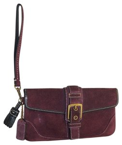 Coach Wristlet in Plum Purple