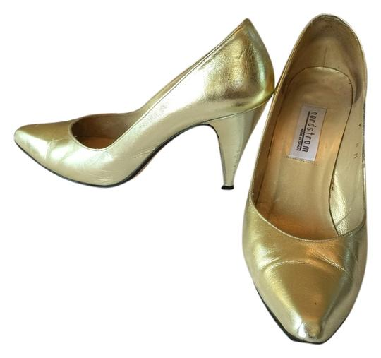 Nordstrom Gold Pumps