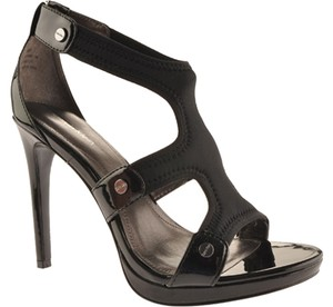 Calvin Klein Stretchy Stiletto Black Sandals
