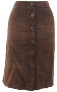 Briggs New York Woman Designer Skirt Corduroy Dark Brown