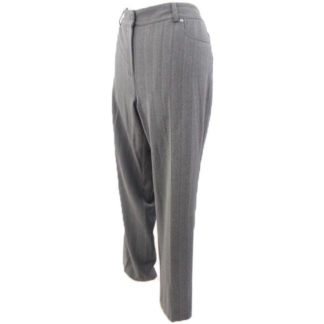 Rafaella Woman Designer Relaxed Pants Grey Pin Striped