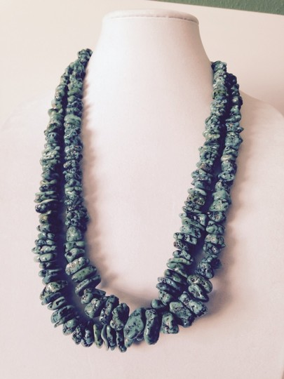 Other Chunky Turquoise & Heishi Bead Long Necklace