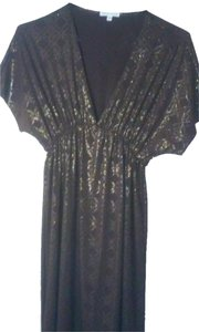 brown & gold Maxi Dress by Velvet Torch