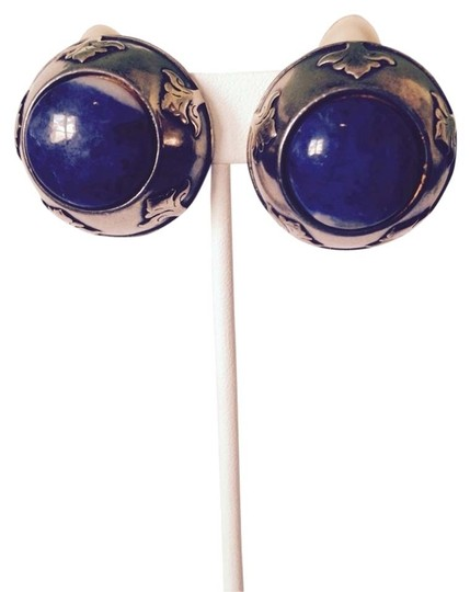 Preload https://item1.tradesy.com/images/blue-sodalite-gemstone-in-sterling-silver-and-bronze-clip-earrings-3168505-0-0.jpg?width=440&height=440
