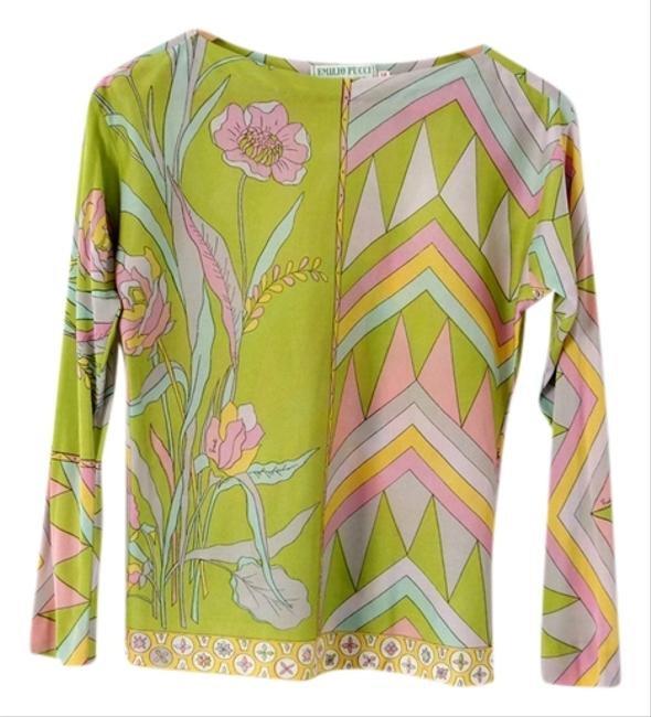 Preload https://item3.tradesy.com/images/emilio-pucci-green-vintage-blouse-size-8-m-3168742-0-0.jpg?width=400&height=650